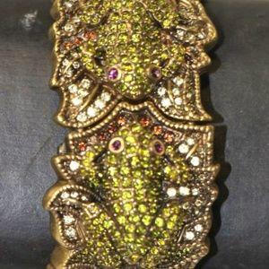 Heidi Daus Kissing Frogs Pave Crystal Watch